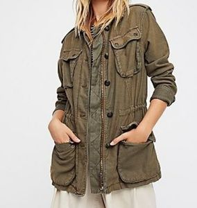 NWT Free People Not Your Brothers Surplus Jacket L